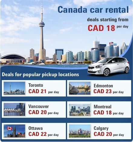 Low Price Car Rental Deals For Canada Car Hire Canada Car Rental