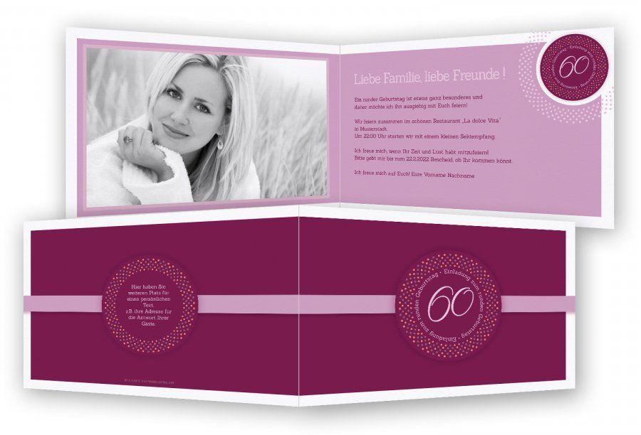 Die Glamourös Einladung 60 Geburtstag Keine Geschenke Foto Unten, Ist  Segment Der Einladung 60 Geburtstag
