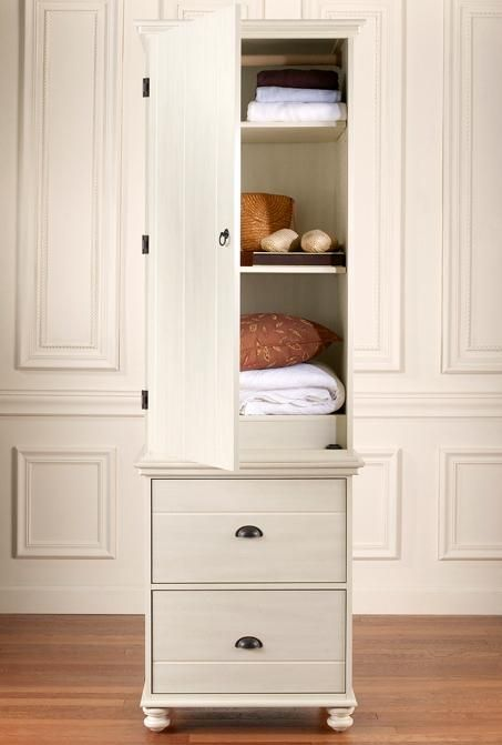 Lang furniture echo bay weathered white 1 door 2 drawer for 1 door wardrobe with shelves