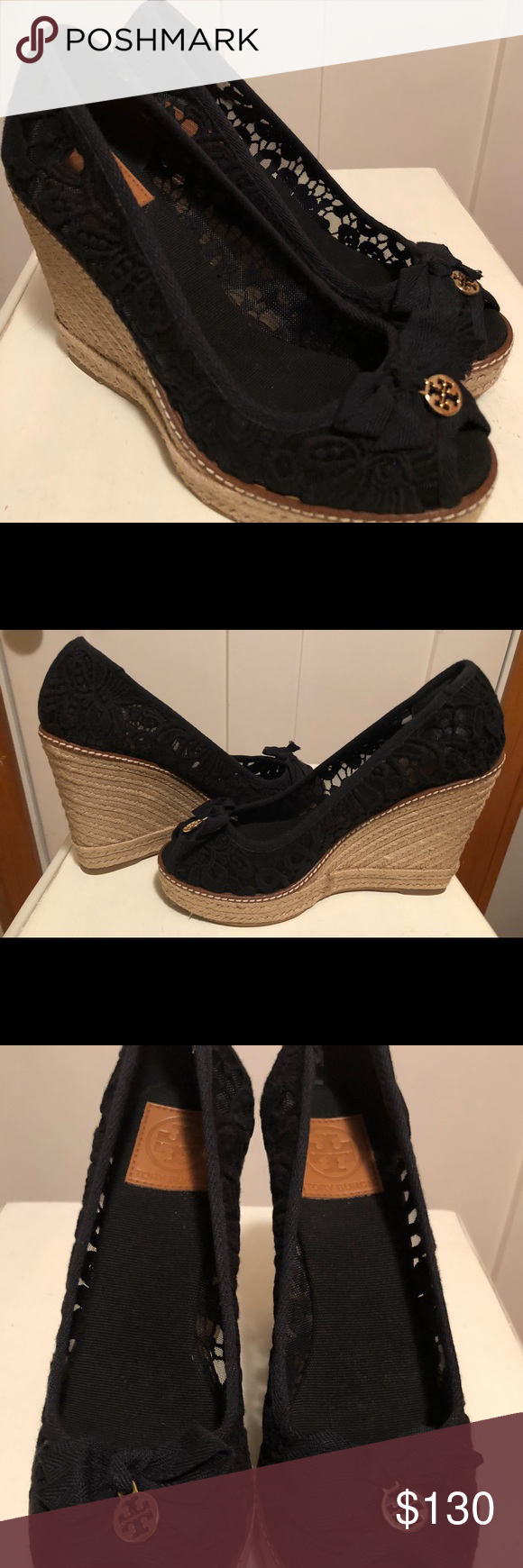 01cbbde39cf New Tory Burch Jackie Espadrille Wedge Sandal Brand new with ...
