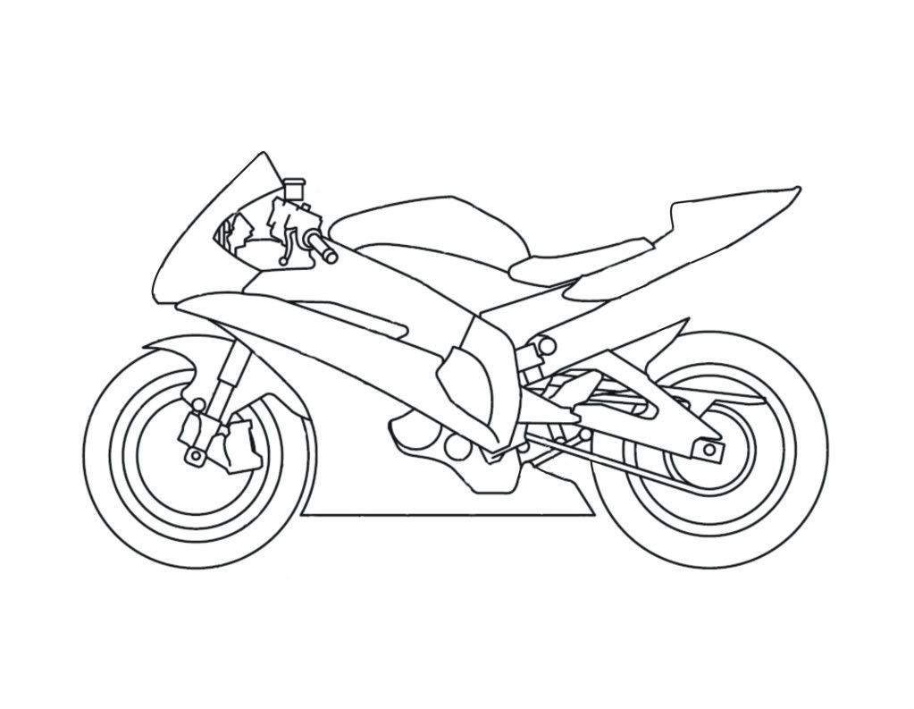 yamaha motorcycles for racing motorcycles coloring pages
