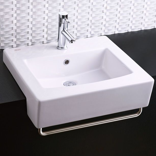 Bathroom Sinks Boxe Semi Countertop Sink White Minimum