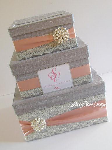 Wedding Gift Box Card Money Holder Custom Made 117 00 Via