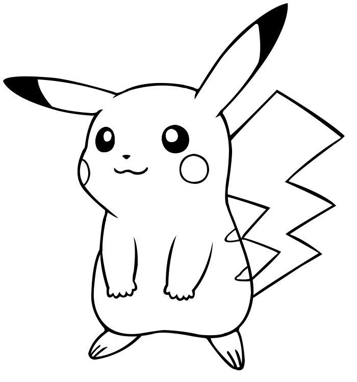 Dibujos de Pikachu para colorear e imprimir gratis | LUIS en 2018 ...