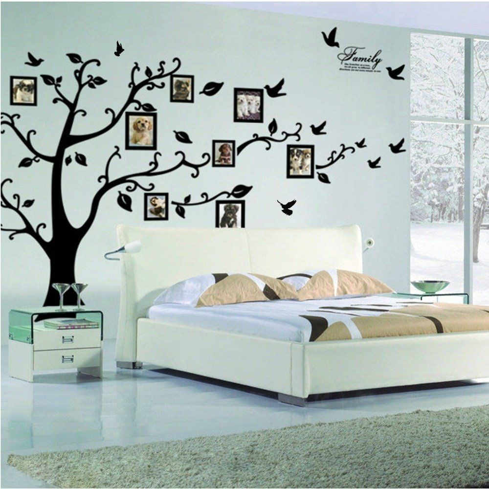 Wall decoration stickers for bedroom - Large Family Tree Wall Decal Peel Stick Vinyl Sheet Easy To Install
