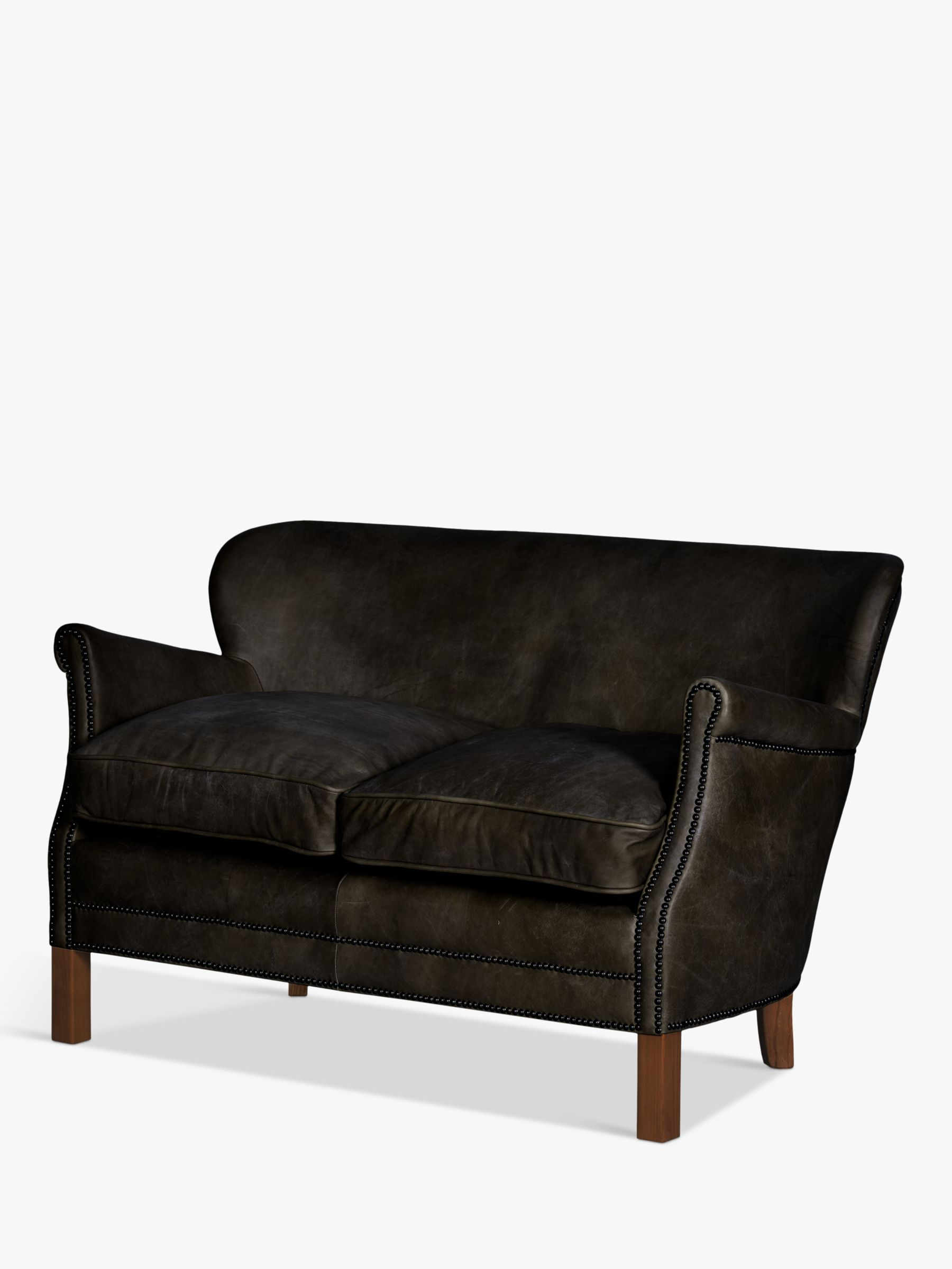 Halo Little Professor Petite 2 Seater Leather Sofa | Leather