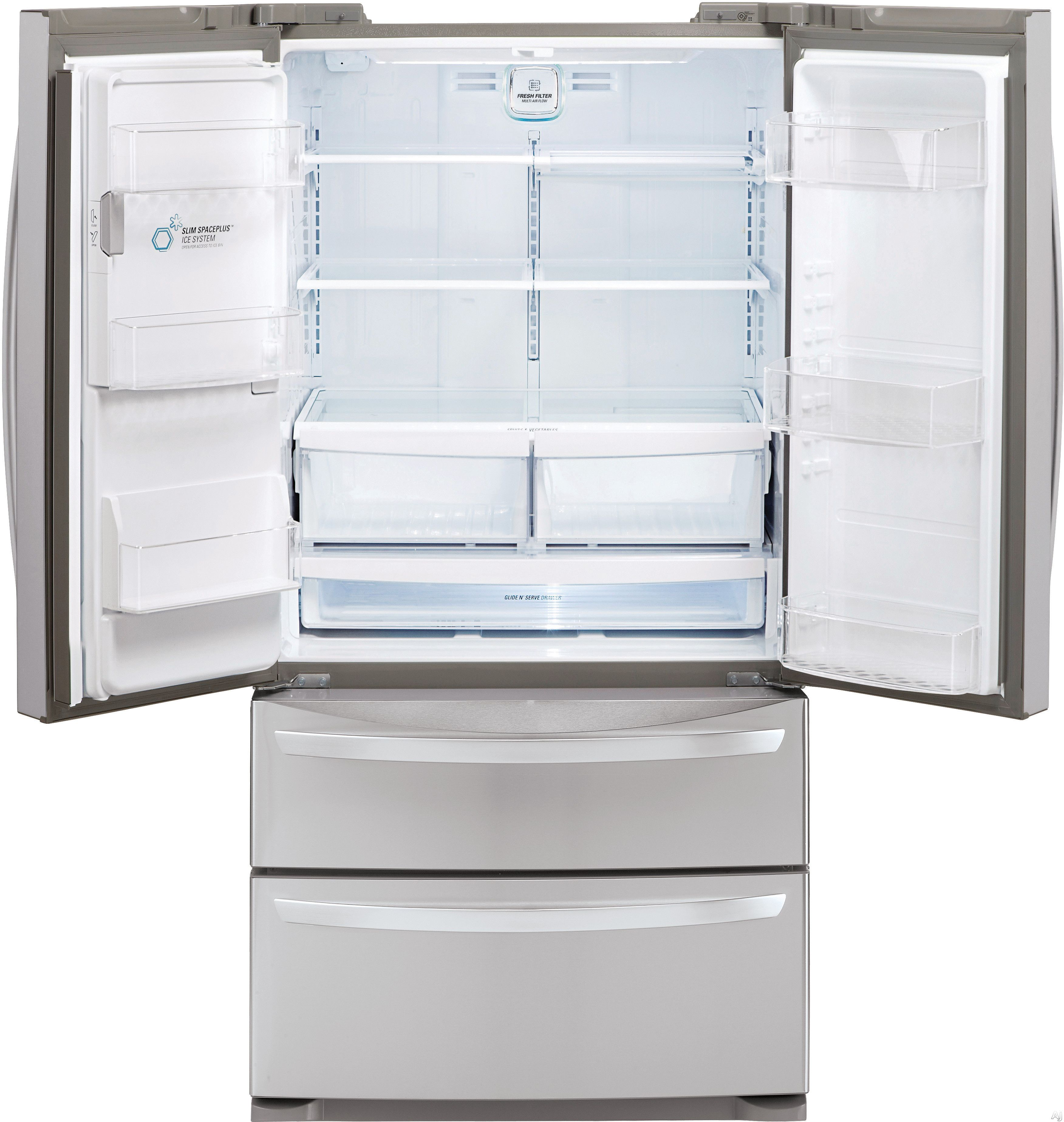 Lg Lmxs27626s 26 8 Cu Ft French Door Refrigerator With Glide N