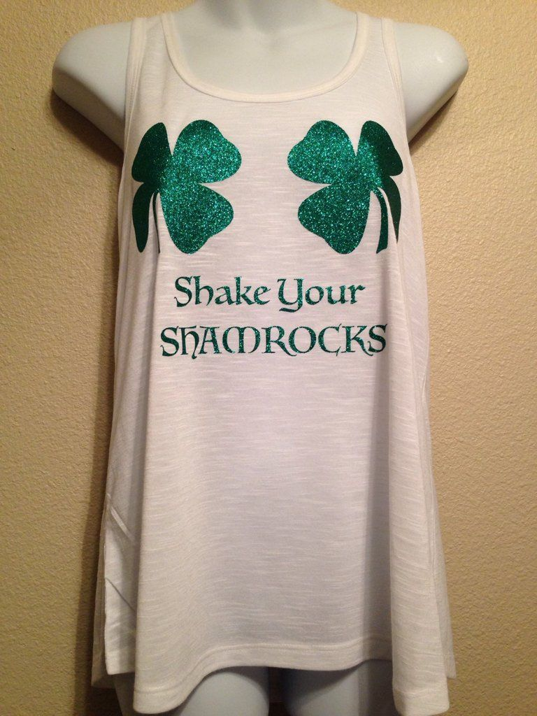 580d4f8db SHAKE your SHAMROCKS Womens Tank Top, St Patricks Day | Cards and gifts