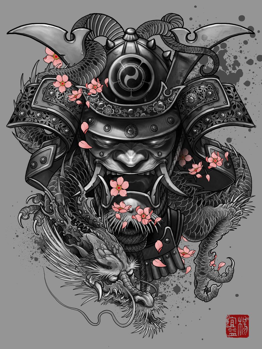 Samurai Dragon By Elvin Yong Wallpaper Tatouage Tatouage