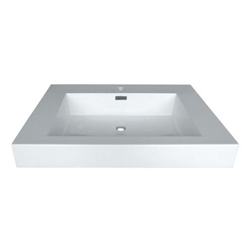 Aeros Stone Resin Deep Rectangle Basin Sink White Basin Sink Sink Vanity Sink