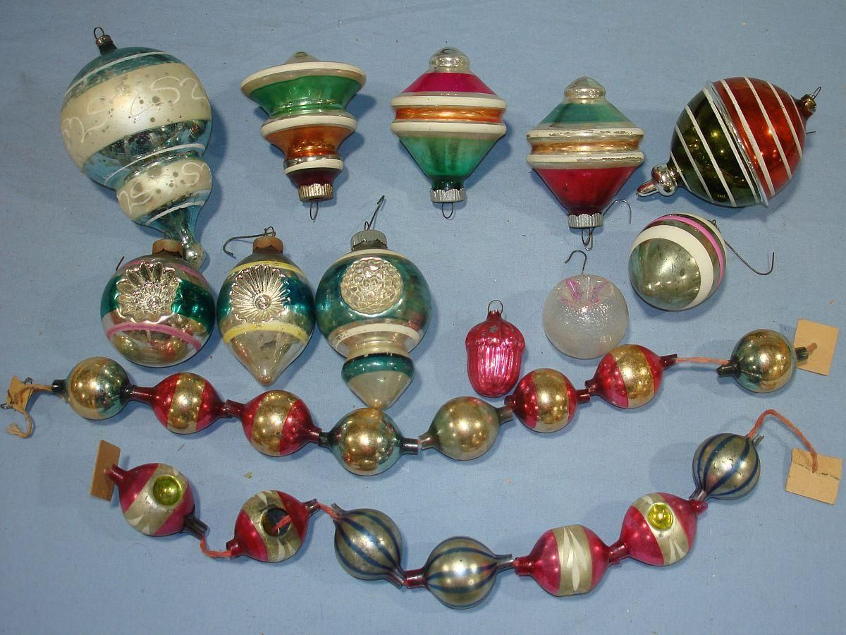 Google image result for Vintage glass christmas tree ornaments