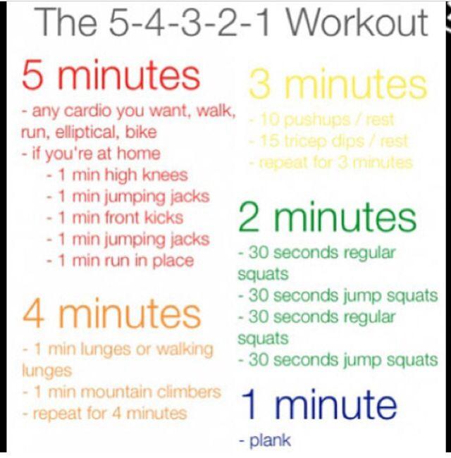 5 4 3 2 1 workout