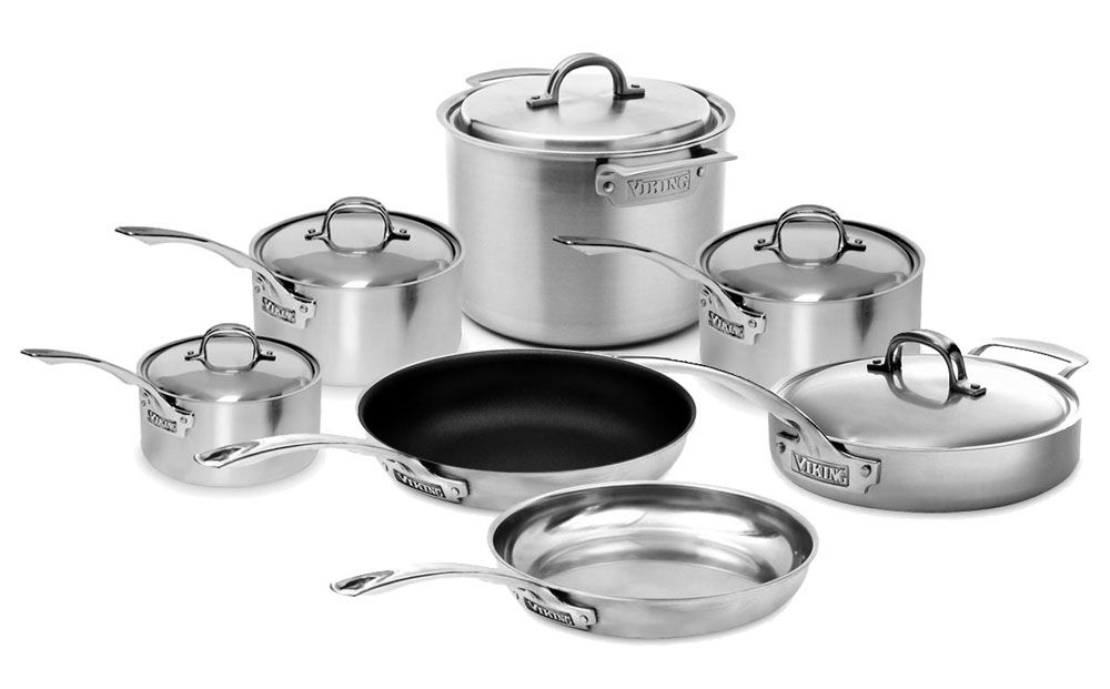 Viking V7 Stainless Steel Cookware Set 12 Piece