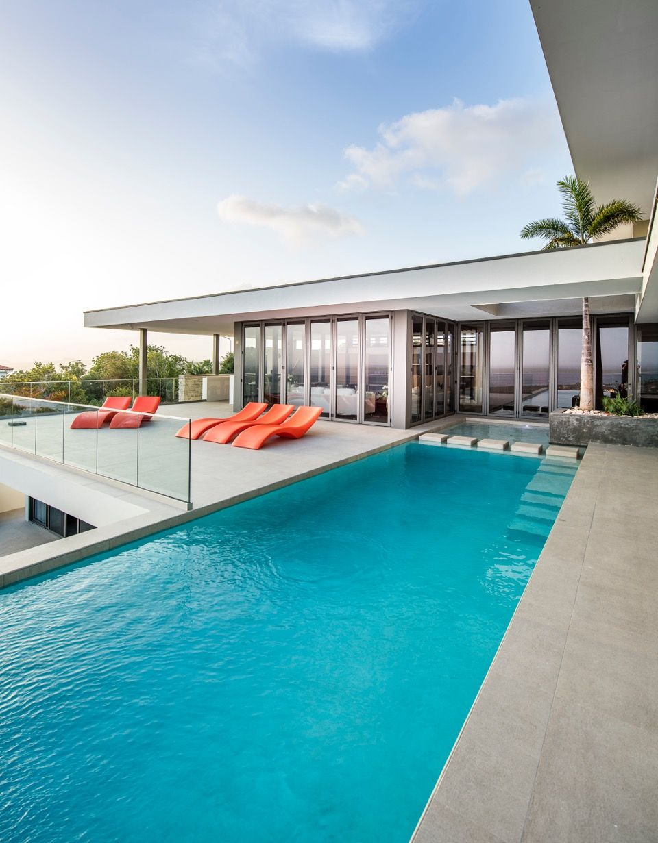The Luxurious Villa Has 3 Pools And 1 Big Infinity Pool With The Most Beautiful View Of Bonaire Infinity Edge Pool Pool Luxury Pool