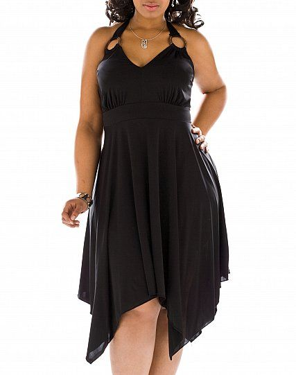 plus size clothes | marilyn hankerchief dress plus sized clothing