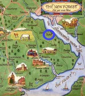 Map of the New forest  Englands New Forest  Pinterest