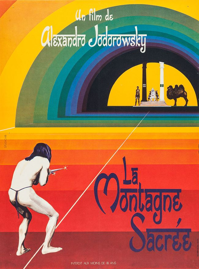 Magazine Vintage French Movie Posters 1927 1981 French Movie Posters The Holy Mountain French Poster