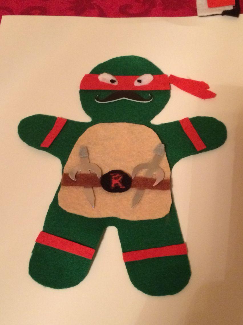 Gingerbread Man In Disguise As Raphael School Project K