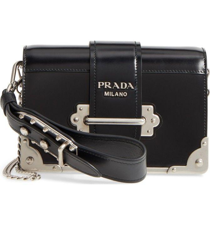 710bb3f4cfc3 Main Image - Prada Small Cahier Leather Shoulder Bag