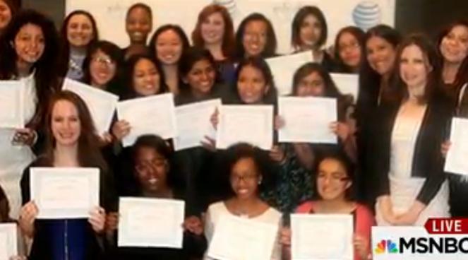 Get a look inside the @GirlsWhoCode graduation at the @ATT offices! http://go.att.jobs/6019BKuBf #TechTuesday