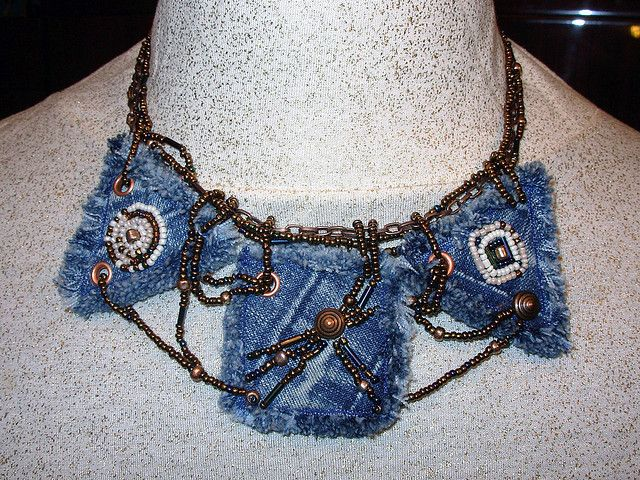 lets Make Necklaces From Old Jeans