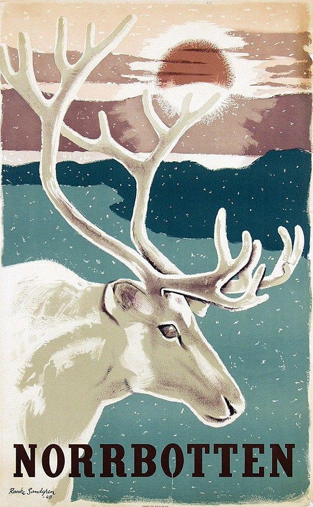Norrbotten - 61x99, 1949, on linen  by Ragnar (Ranka) Sandgren  (1916-2000)