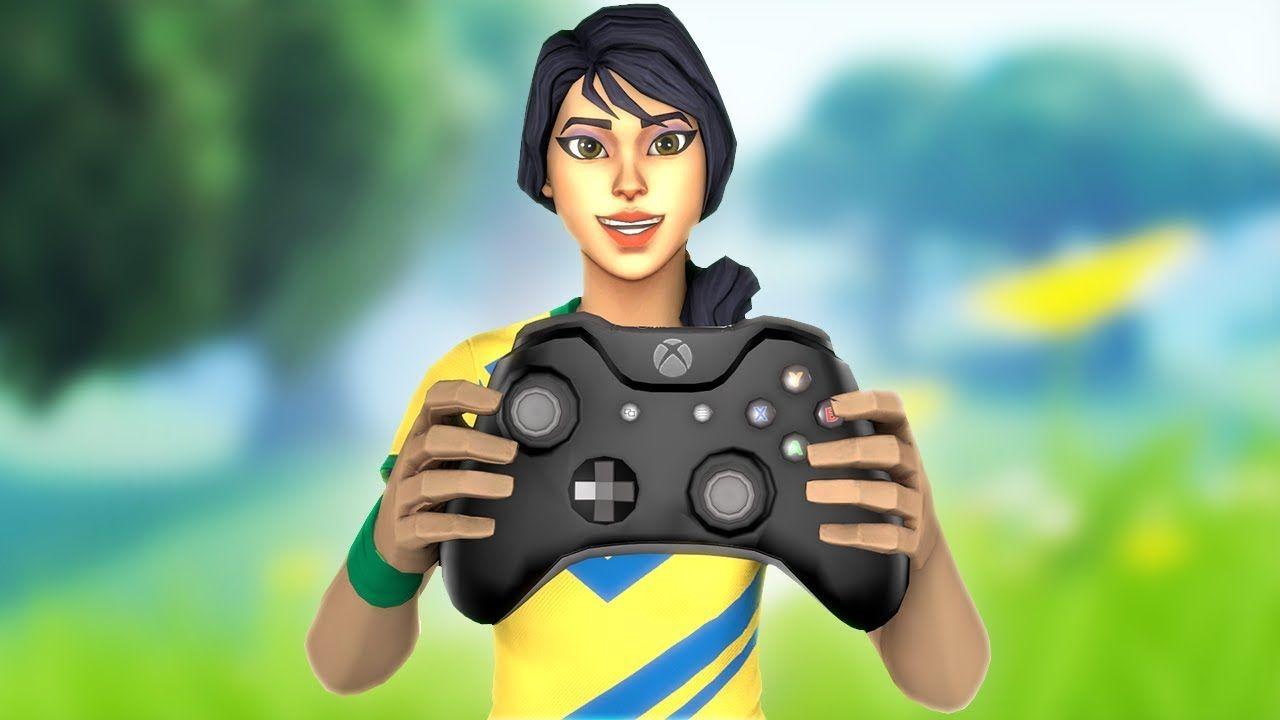 Wallpaper Fortnite Skins Holding Xbox Controller Fortnite Xbox Controller Xbox One Background