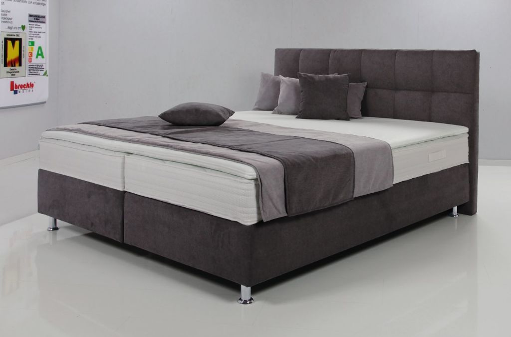 Boxspringbett 180 X 200 Cm Dallas Mittelgrau In 2020