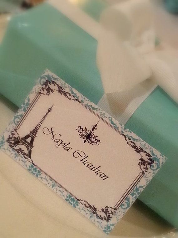 Tiffany Inspired Name Food Tags For Weddings Por Greetingsnmore 3 75