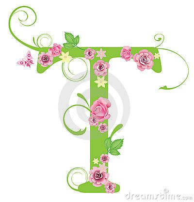 Letter t with roses cookies inspirations pinterest for Letter t decoration