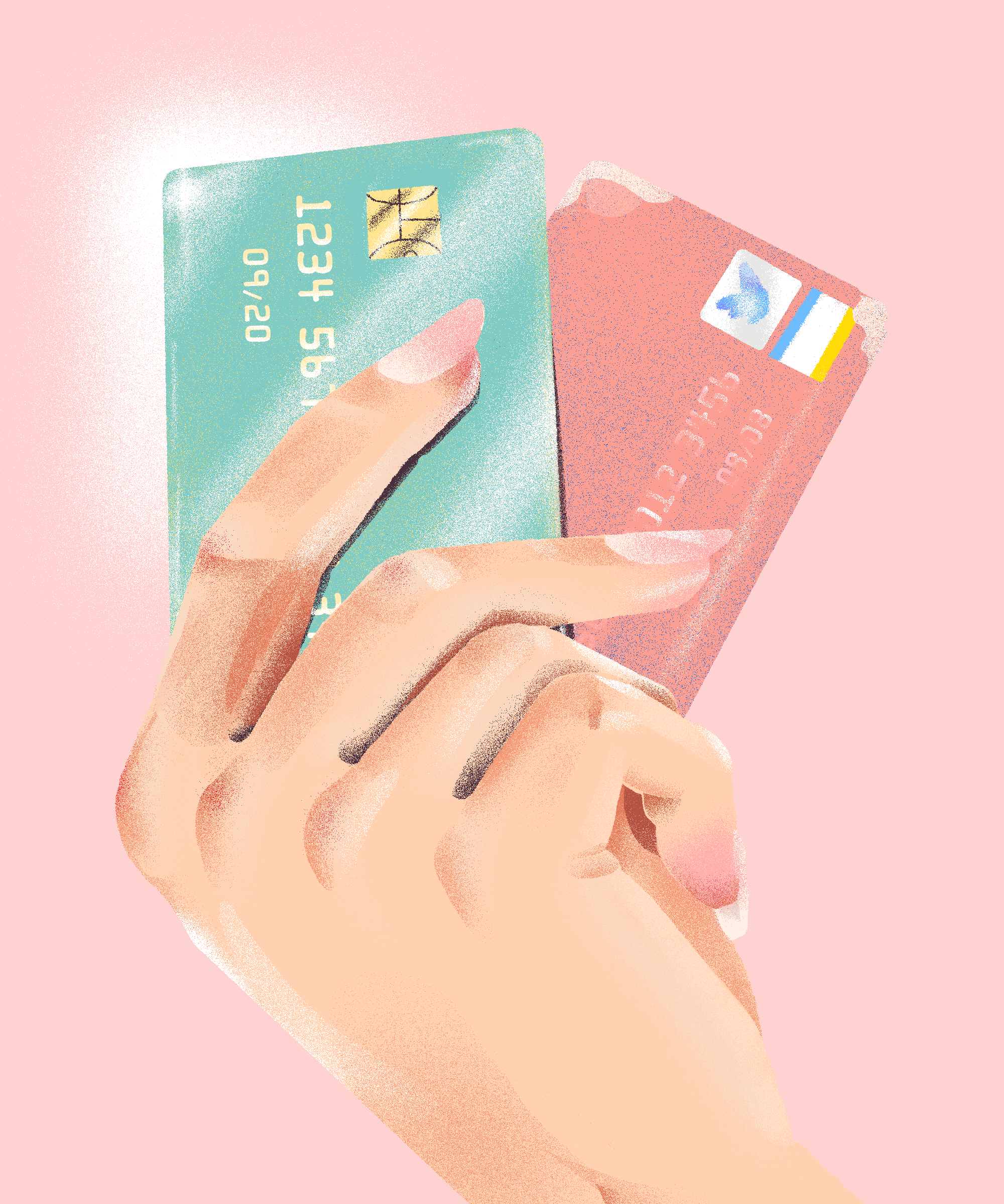 credit card illustration #creditcard How To Get Your First Credit Card+#refinery29 #credit card