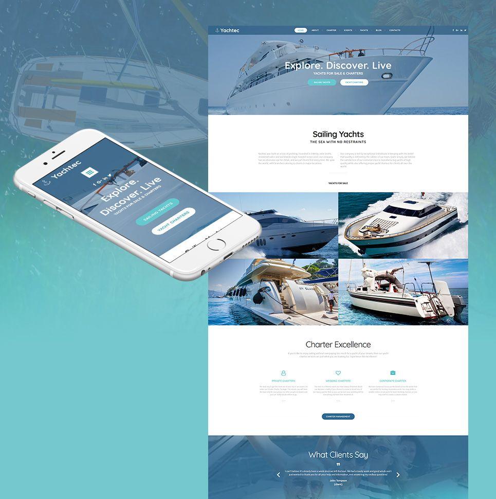 Yacht Chartering Responsive Moto CMS 3 Template Web