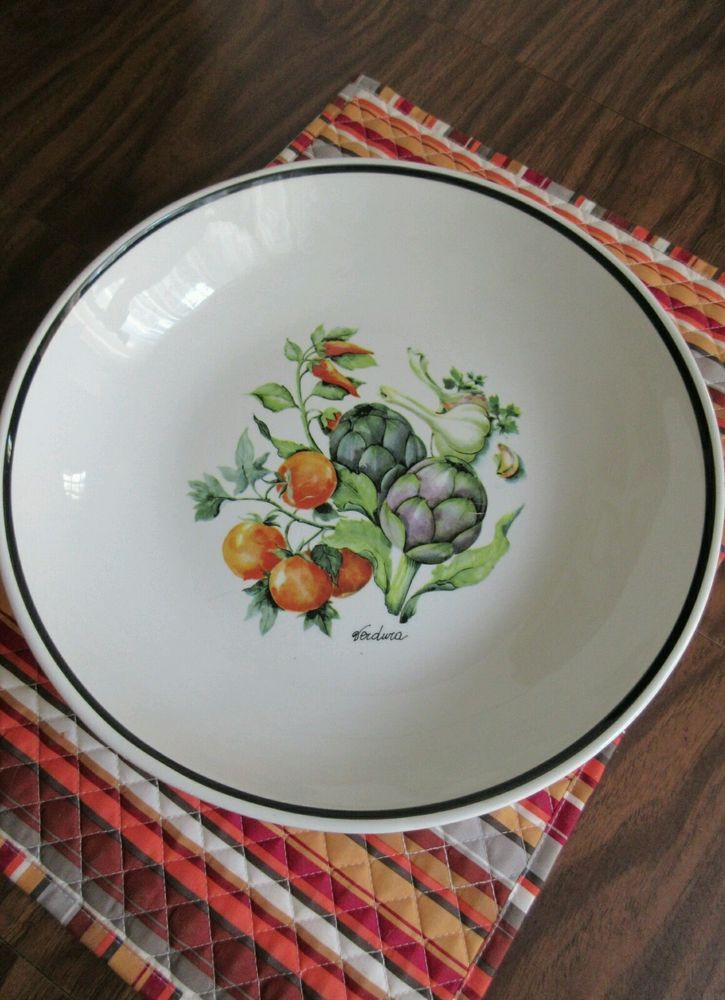 Over & Back Inc. Large Ceramic Pasta Bowl Made In Italy Vegetable ...