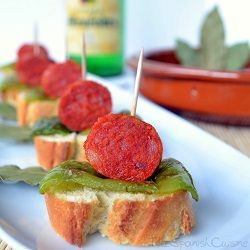 Spanish chorizo sausage in Cider Sauce, a yummy and easy Spanish Tapas recipe - Spanish food and cuisine.