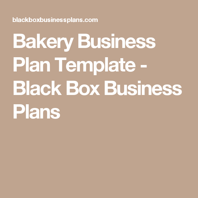 Bakery business plan template black box business plans lindas cake bakery business plan template wajeb Image collections