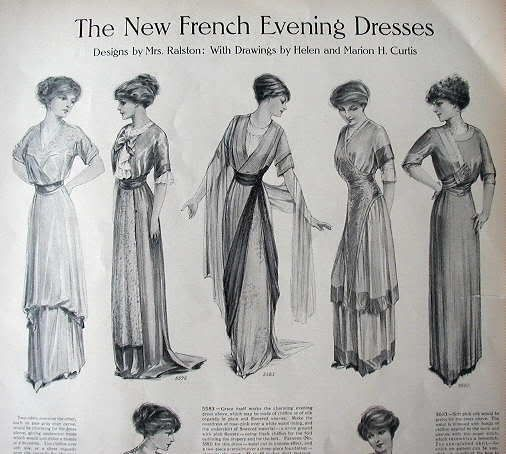 0f4c4bce3e6 1890's - 1910's fashion: bygonefashion - I WOULD LOVE THE DRESS IN THE  MIDDLE FOR MY SON'S WEDDING.