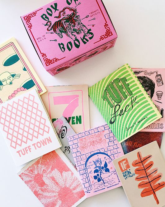 box of books from los angeles art book fair / sfgirlbybay