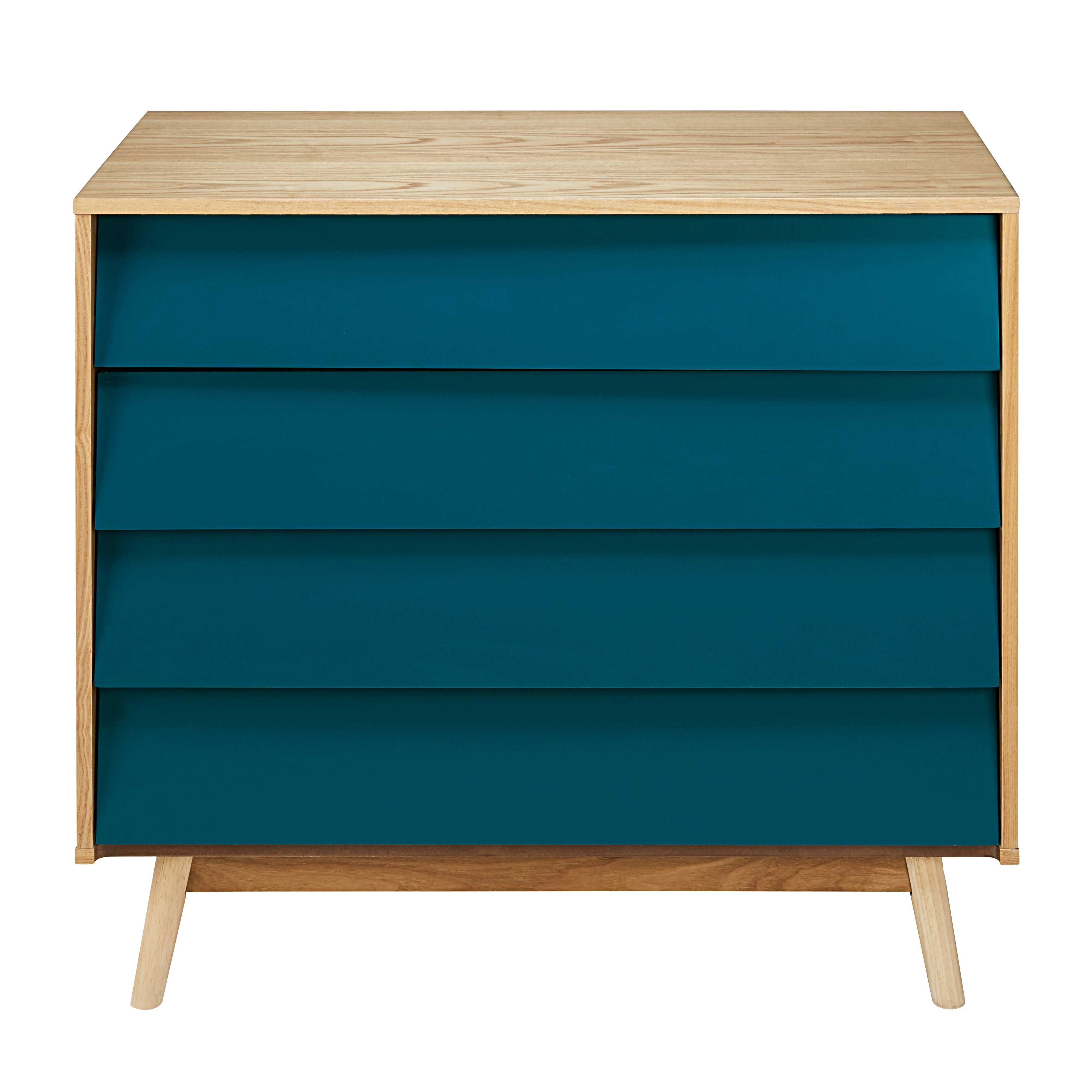 Commode Bleue Maison Du Monde Commode Vintage 4 Tiroirs Bleu Pétrole In 2019 Wanted Blue