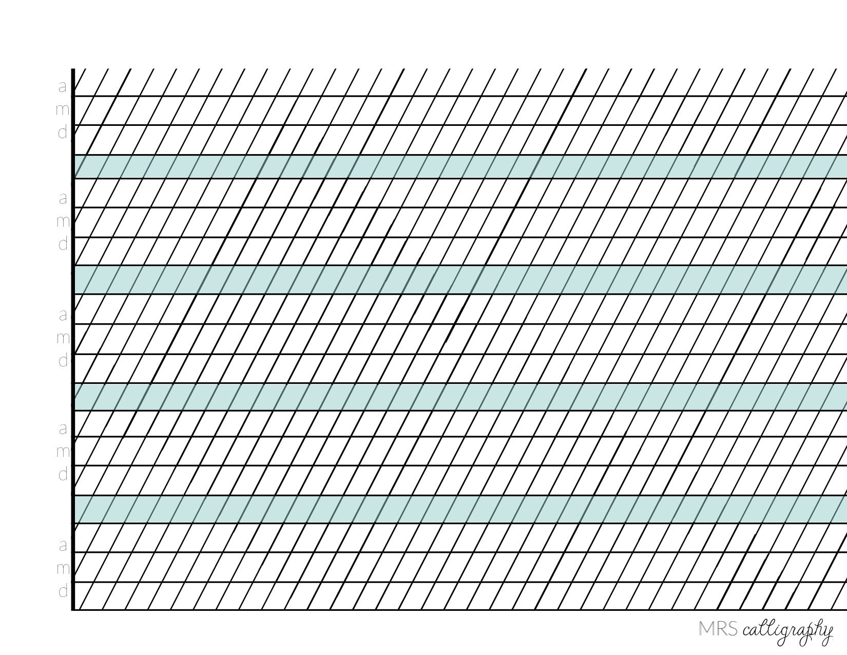 Calligraphy Grid
