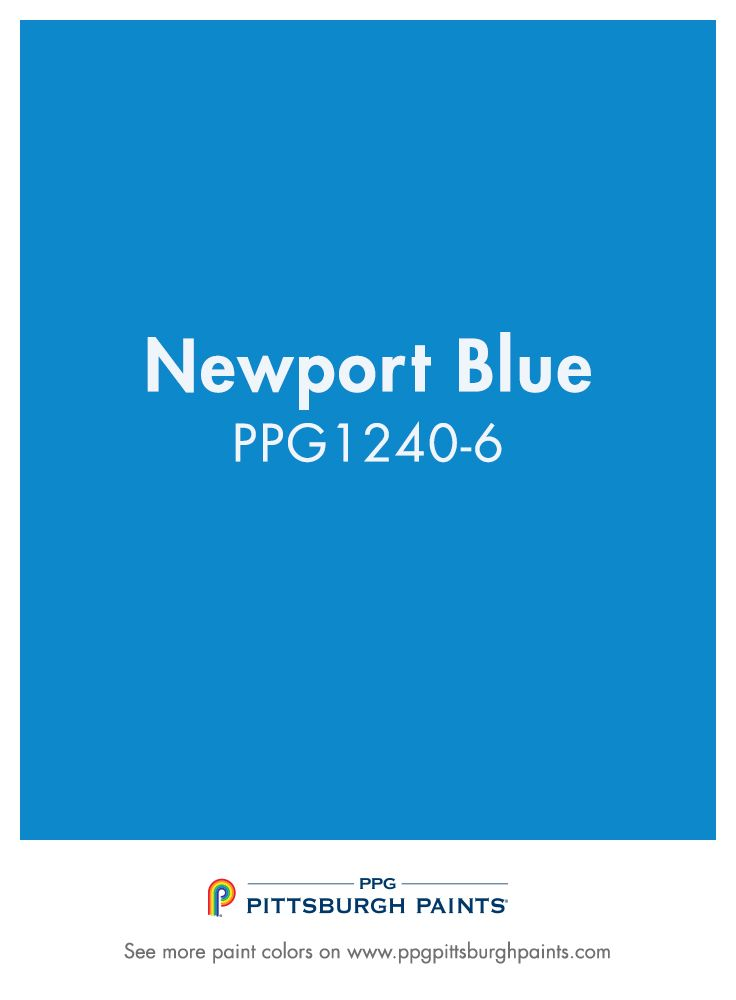 Newport Blue Ppg1240 6 From Ppg Pittsburgh Paints