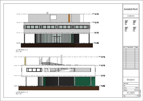 Revit Elevation Key Plan : Villa savoye revit model le corbusier update on