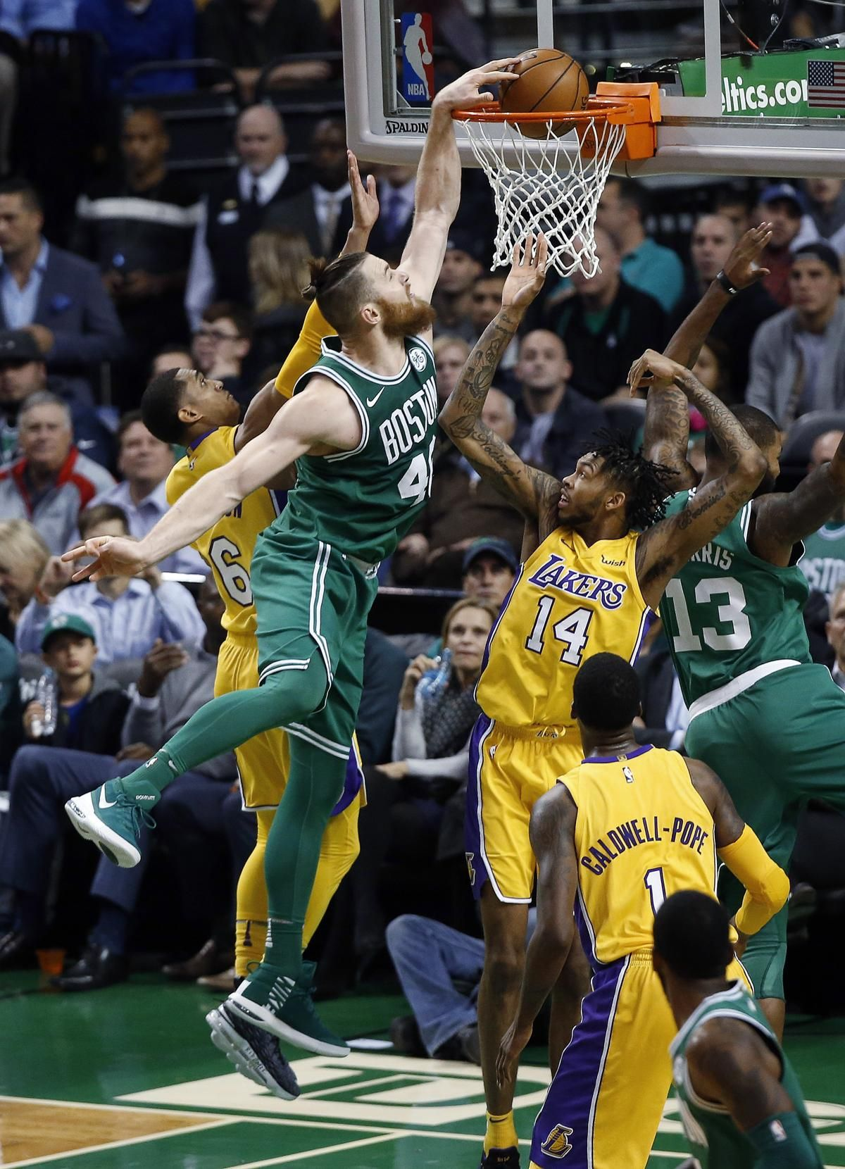 The Numbers Were Against The Celtics Except On The Scoreboard The Boston Globe Celtic Boston Celtics Boston Celtics Basketball