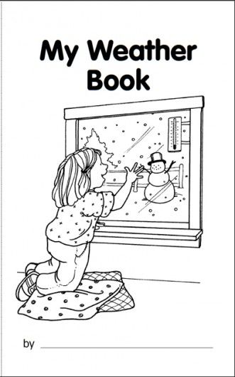 my book about the weather - My Color Book Printable
