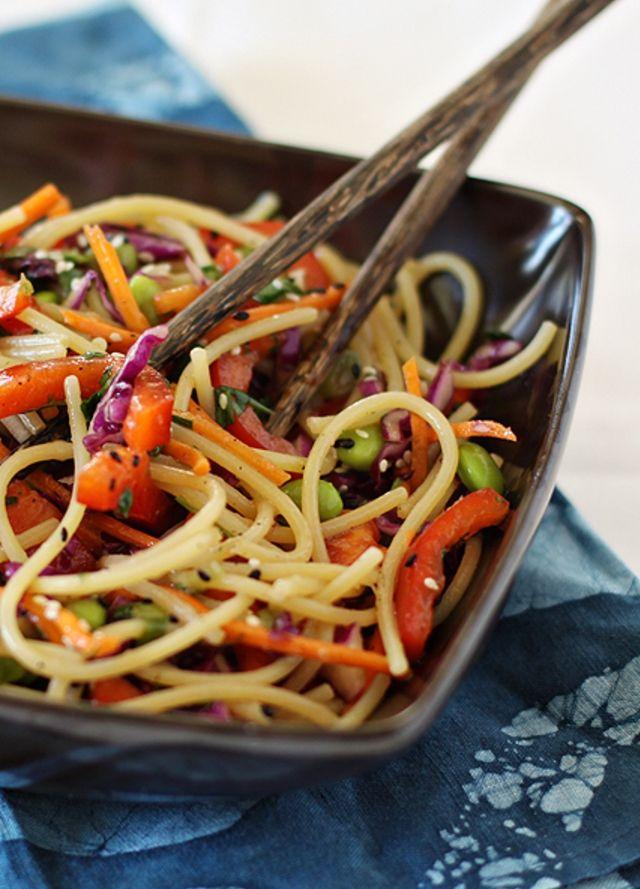 Espaguete à Moda Oriental