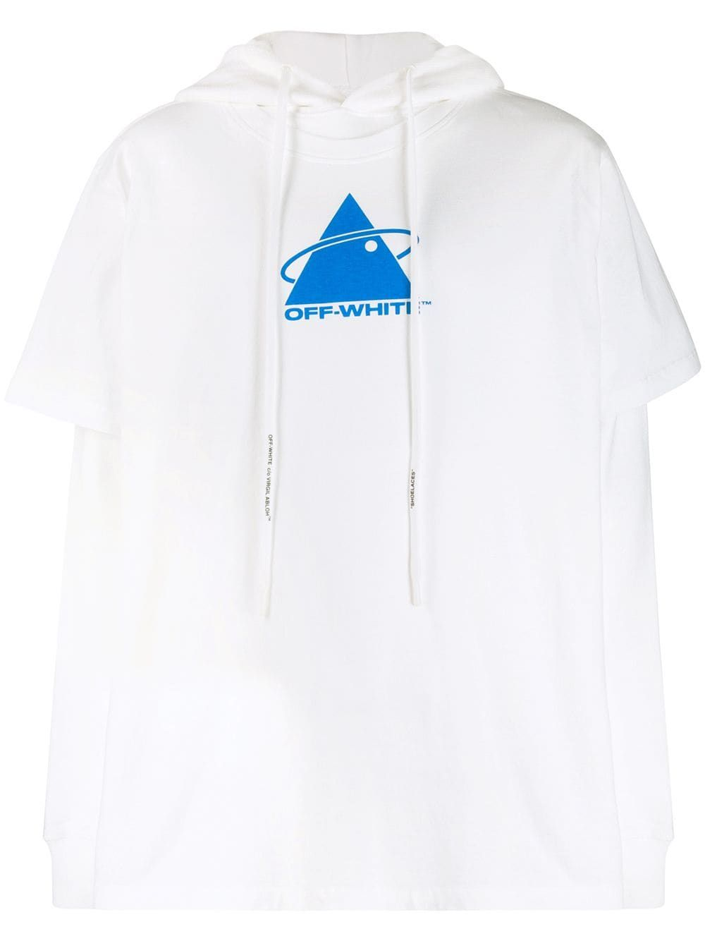 Off White Triangle Double T Shirt Hoodie Farfetch [ 1334 x 1000 Pixel ]