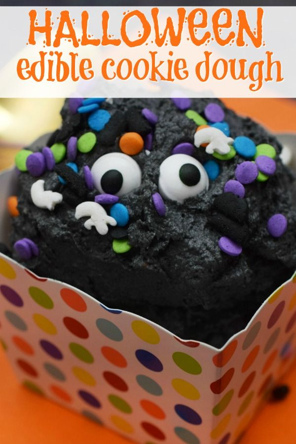 Your little (and not so little) monsters will love this Halloween Edible Cookie Dough Recipe! Halloween cookie dough, edible cookie dough, Halloween desserts, Halloween recipes, Halloween treats, black foods   via @brettmartin -   23 halloween cookie recipes