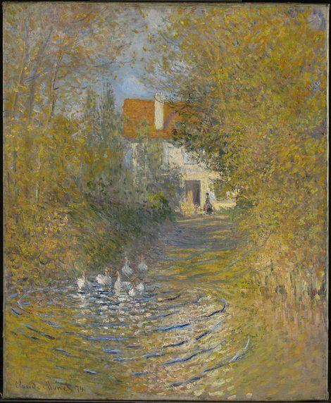 Claude Monet, The Geese 1872 on ArtStack #claude-monet #art