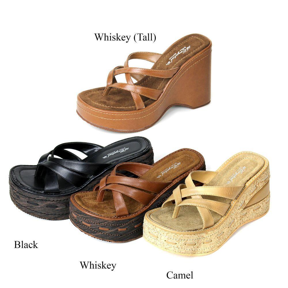 d17b8e0a3d1a38 NEW Women s Cork Wedge Platform Thong High Heel Flip Flop Sandals Shoes   None  PlatformsWedges
