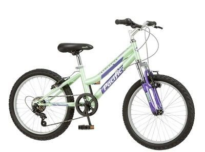 Green Mountain Bike For Kids S 20 Inch Steel Frame Rugged Off Road Cycling6 Gender