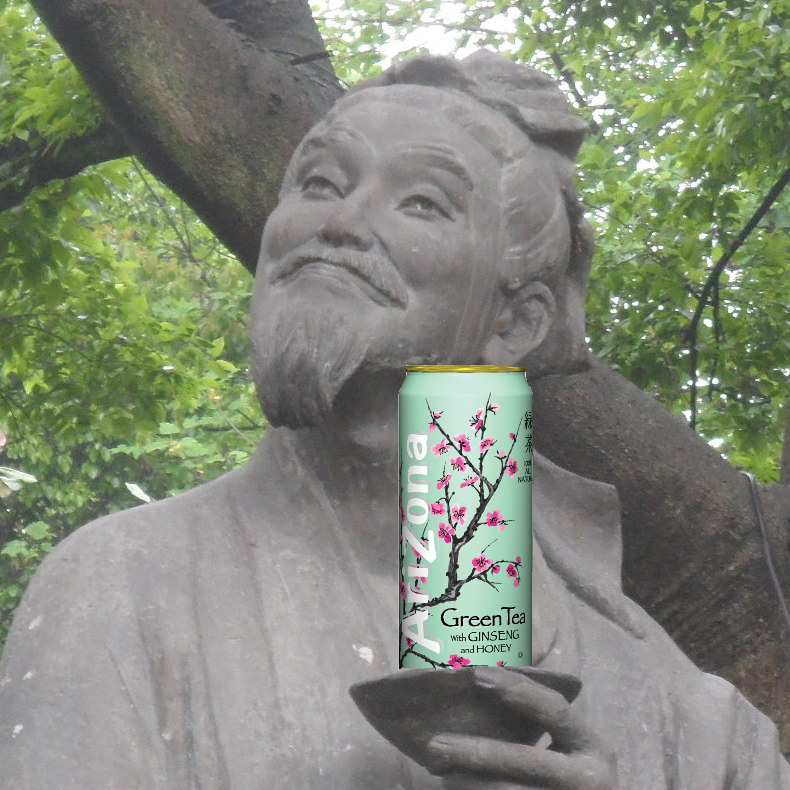 I've made this stupid photomontage about Lu Yu I'don't know why but I found it funny! #tea #greentea #teatime #win #90sBabyFollowTrain